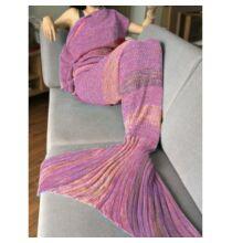 Horgolt hableány takaró - Pink