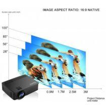 EU ECO Raktár - Exquizon LED GP12 Hordozható Multimédia LCD Projektor