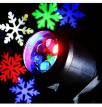 Lightme 6W LED hópehely lámpa - Fekete