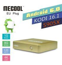 MECOOL HM8 Android 6.0 4K TV Box - Arany