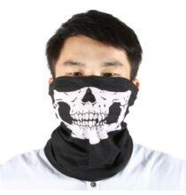 Multifunkcionális koponyamintás nyaksál biciklizéshez-Fekete