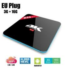 H96 PRO Android 6.0 4K TV Box 3GB + 16GB - Fekete