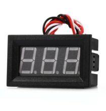 V27D D0 - 100V LED Voltmérő modul -Fekete