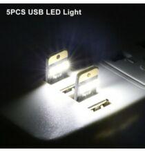 0.2W 22Lm USB LED izzó laptophoz 5db -Fekete