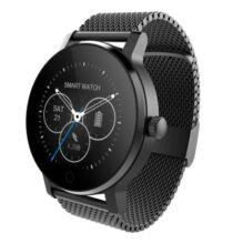 SMA - 09 Bluetooth 4.0 okosóra fém szíjjal - Fekete