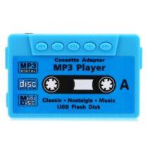 Kazetta alakú MP3 lejátszó -Kék