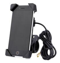 IZTOSS 2 az 1-ben motorbicikli telefon tartó-Fekete