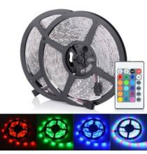 2 db vízálló LED szalagHML 5M 30W SMD 3528 300 24 gombos vezérlővel