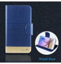 Ulefone S7 műbőr flip védőtok - Kék