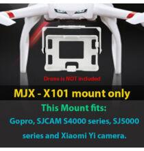 Gopro SJCam Sj4000 SJ5000 szériás Xiaomi Yi kamera keret MJX X101 quadkopterhez - Fehér