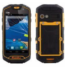 """EU ECO Raktár - Runbo Q5 4.5"""" HD IPS Android 4.2 MTK6589T IP67 Strapabíró 3G Okostelefon - Narancs"""