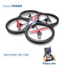 WLtoys V666N drón 5.8G 6 tengelyes FPV Barometer RC Quadcopter HD monitorral