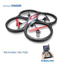 EU ECO Raktár - WLtoys V666N drón 5.8G 6 tengelyes FPV Barometer RC Quadcopter HD monitorral