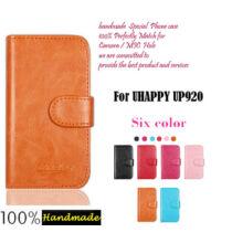 Eredeti állványozható műbőr flip védőtok bankkártya tok UHAPPY UP920 okostelefonhoz
