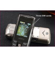 "EU ECO Raktár - Luxury Vertu V8 2.4"" Kártyafüggetlen 3 SIM Mobiltelefon"