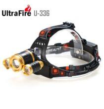 UltraFire U - 336 LED fejlámpa - Fekete