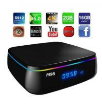 EU ECO Raktár - M9S MIX Android 6.0 4K TV Box - EU csatlakozó Fekete