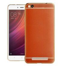 Luanke Xiaomi Redmi 4A galvanizált élű tok - Barna
