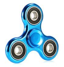 Stresszcsökkentő galvanizált lyukas fidget spinner - Kék
