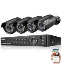 EU ECO Raktár - FLOUREON 1 X 8CH 1080P 1080N AHD DVR + 4 X Kültéri 3000TVL 1080P 2.0MP Biztonsági Kamera Rendszer