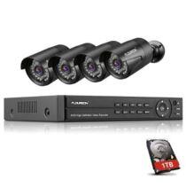 EU ECO Raktár - FLOUREON 8CH 1080P Biztonsági Kamera DVR Funkcióval 1 TB Merevlemezzel
