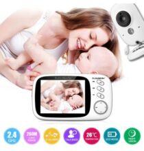 EU ECO Raktár - FLOUREON 3.2\'\'Digitális Vezetéknélküli Babafigyelő Kamera