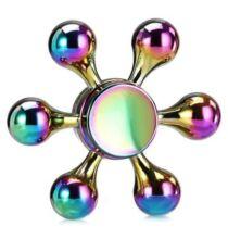 Hatágú ötvözet Fidget Spinner - Színes