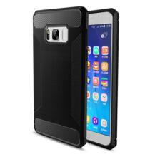 Samsung Galaxy S8 karbonszálas hátlapvédő tok - Fekete