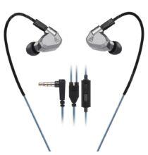 EU Raktár - KZ ZS5 3.5mm (In-Ear) hibrid headset (PL) - Mikrofonnal - Szürke
