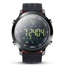 Diggro DI04 IP68 Vízálló Okosóra Sport tevékenységekhez és Fitnesszhez - Fekete/piros színben
