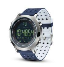 Diggro DI04 IP68 Vízálló Okosóra Sport tevékenységekhez és Fitnesszhez - Kék/Fehér