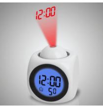 Projektoros LED ébresztőóra - Fehér