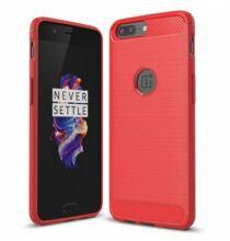 Luanke for OnePlus 5 karbon védőtok - Piros
