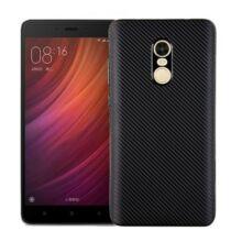 Luanke Xiaomi Redmi Note 4X szénszálas hátlapvédő tok - Fekete