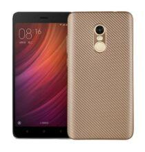 Luanke Xiaomi Redmi Note 4X szénszálas hátlapvédő tok - Arany
