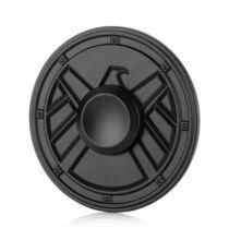 Kerek sas fém Fidget Spinner ADHD játék - Fekete