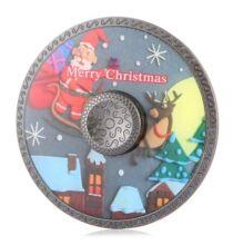Kerek retro fémötvözet Fidget Spinner ADHD játék - Karácsony
