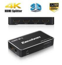 Excelvan 1x4 HDMI Elosztó 4K Támgoatással