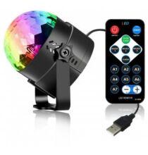 YouOKLight 3W RGB Mini Magic Ball Színes 360 fokban forgatható RGB Led lámpa távirányítóval