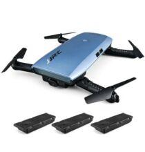 EU ECO Raktár - JJRC H47 ELFIE+ RTF szelfi drón tartalék 2 akkus verzió - Kék