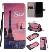Samsung Galaxy S8 PLUS mágneses Flip védőtok festett  - Párizs - Barna