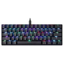 EU ECO Raktár - MOTOSPEED CK61 NKRO Mechanikus Gamer Billentyűzet RGB Világítással - Fekete