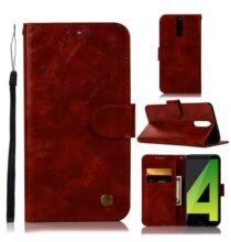 Huawei Nova 2I / Huawei Mate 10 Lite műbőr kártyatartós védőtok - Sötétpiros