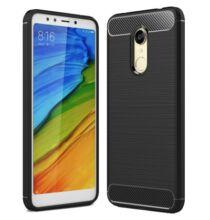 ASLING Xiaomi Redmi 5 Plus szénszálas védőtok - Fekete