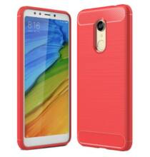 ASLING Xiaomi Redmi 5 Plus szénszálas védőtok - Piros