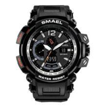 SMAEL 1702 Multifunkcionális Vízálló Elegáns LED Kvarc Sport óra Ébresztőóra funkcióval - Fekete