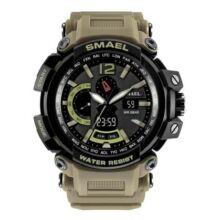 SMAEL 1702 Multifunkcionális Vízálló Elegáns LED Kvarc Sport óra Ébresztőóra funkcióval - Khaki