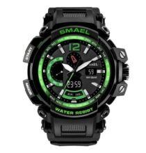 SMAEL 1702 Multifunkcionális Vízálló Elegáns LED Kvarc Sport óra Ébresztőóra funkcióval - Zöld
