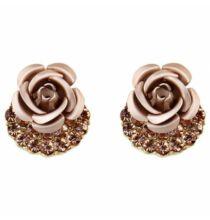 Aranyozott Rózsa Fülbevaló - Pezsgő