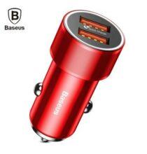 Baseus BSC - C15K USB QC3.0 autós töltő (CN) - Piros